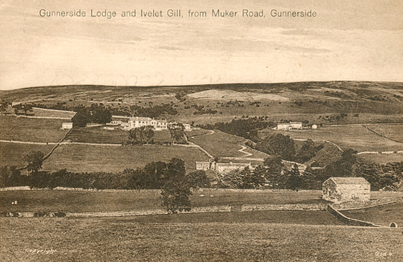 Gunnerside Lodge and Ivelet Gill postcard