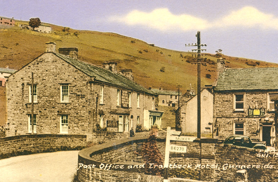Gunnerside Post Office and Troutbeck Hotel Postcard 1970 ©F.Frith & Co., Reigate