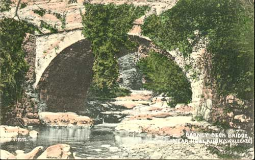 Barney Beck Bridge Postcard 1907©Brittain & Wright