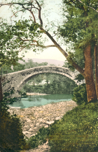 Ivelet Bridge postcard dated 1908
