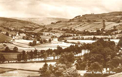Swale Valley, Low Row  Postcard ©Jacksons of Reeth