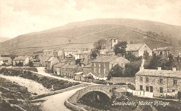 Muker Village Postcard 1911 ©Frith & Co.
