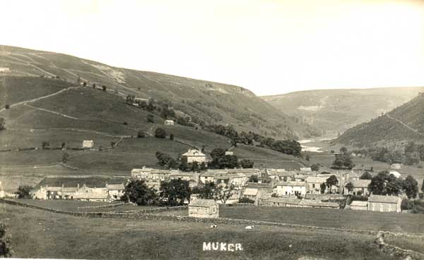 Muker Postcard looking north