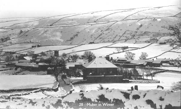 Muker in Winter Postcard 1926